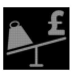white halftone market pound price swing icon vector image