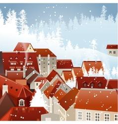 Winter city landscape vector image vector image
