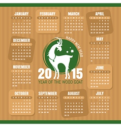 Year of the goat calendar vector image