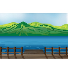 A blue calm sea vector image vector image
