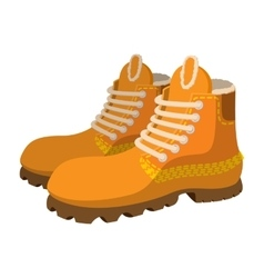 Hipster boots cartoon icon vector image vector image
