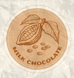 milk chocolate vintage paper vector image vector image