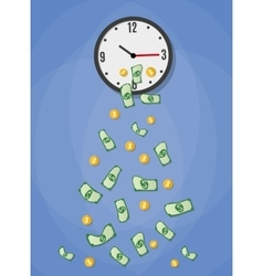 money drop from watch vector image