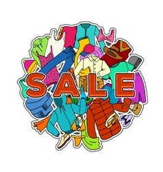 Sale Season Doodle Cloth Collection vector image