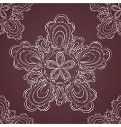 Seamless lace pattern fantasy flowers vector image vector image