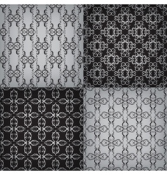 Set of seamless with graphic pattern vector image vector image