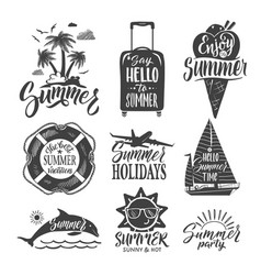 text logo for summer party hand drown letters and vector image