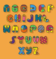 colorful alphabet superhero style vector image vector image