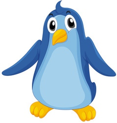 Comical penguin vector image