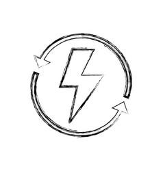 figure energy hazard symbol with arrows around vector image