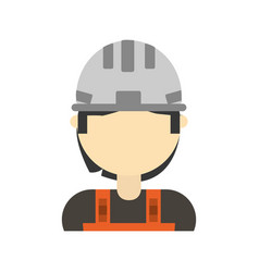 man construction worker vector image