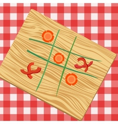 Ouths and crosses made from vegetables vector image vector image