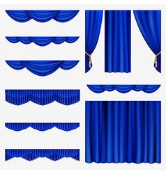 Set of curtains vector image vector image