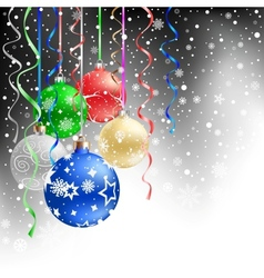 christmas bauble black background vector image vector image