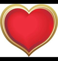 Golden love heart vector image vector image