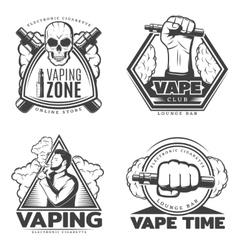 Monochrome Smoke Labels vector image