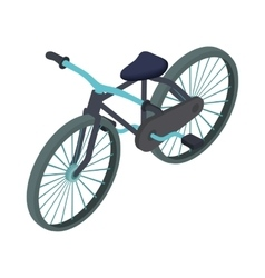 Black bike icon cartoon style vector image vector image