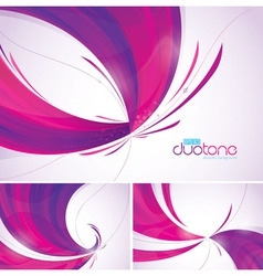 Duotone abstract background vector image vector image