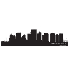 Richmond Virginia skyline Detailed city silhouette vector image
