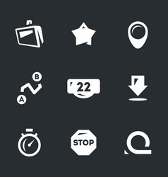 set of road navigation icons vector image