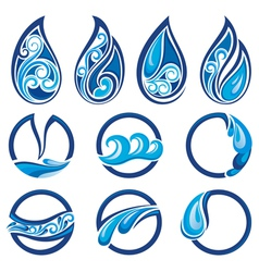 Water collection vector image vector image