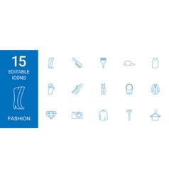 15 fashion icons vector