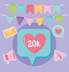 20k followers vector