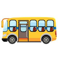 a school bus on white background vector image