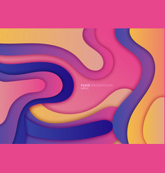 abstract 3d fluid gradient dynamic shape vector image