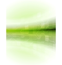 Abstract green motion technology background vector image