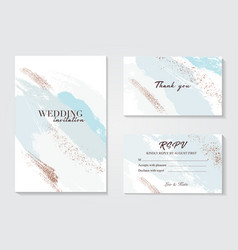 abstract grunge blue white pattina greeting card vector image