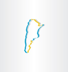 Argentina stylized map icon vector