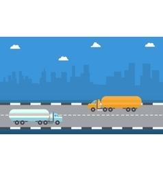 art of road tanker vector image