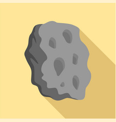 asteroid icon flat style vector image