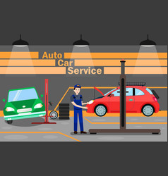 Automobile maintenance advertising banner template vector