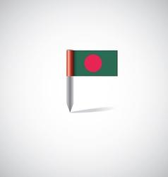 Bangladesh flag pin vector