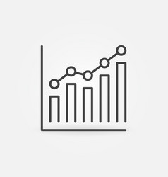 bar chart with circles concept line icon vector image