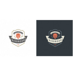 barbecue logo grill steak vector image
