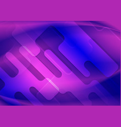 blue violet wavy geometric abstract background vector image
