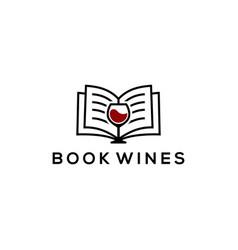 book wine vector image