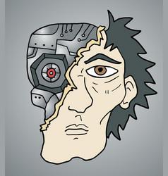 broken robot vector image