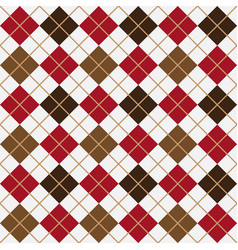 brown and red argyle harlequin seamless pattern vector image