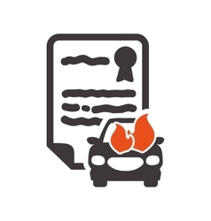 Car insurance document design vector