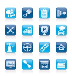 Car parts and services icons vector