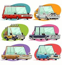 cartoon cars set vector image