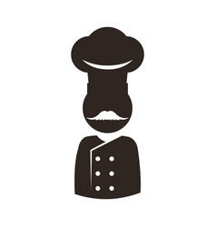 Chef mustache hat vector