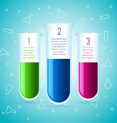Chemical lab experiment infographic design vector