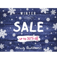 Christmas banner with snowflakes and sale offer vector