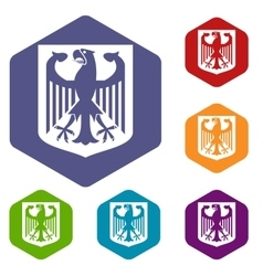 Coat of Arms of Germany icons set vector image