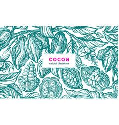 cocoa background nature retro vector image